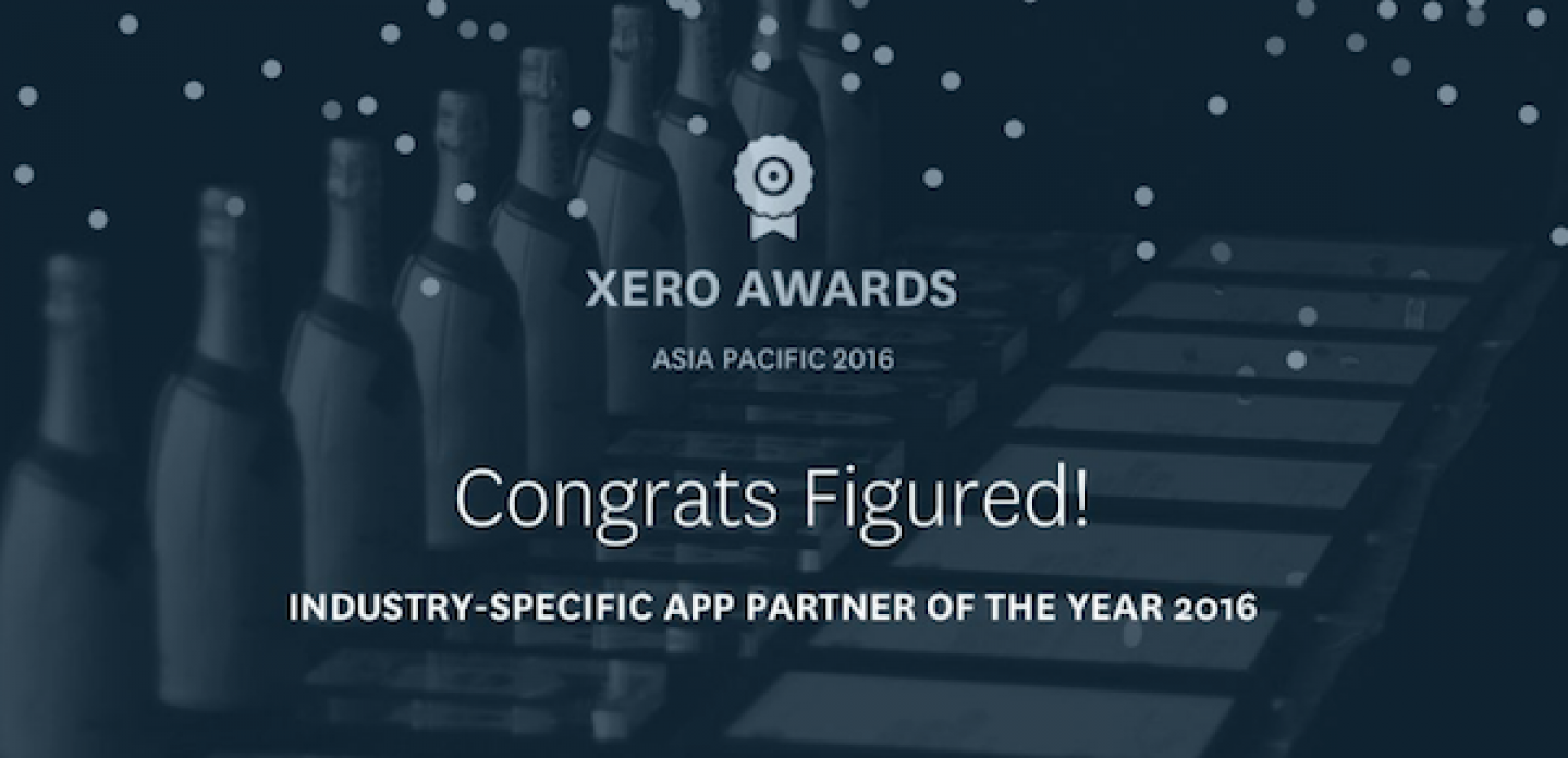 Figured awarded Asia-Pacific Industry Specific App Partner of the Year - Xerocon 2016